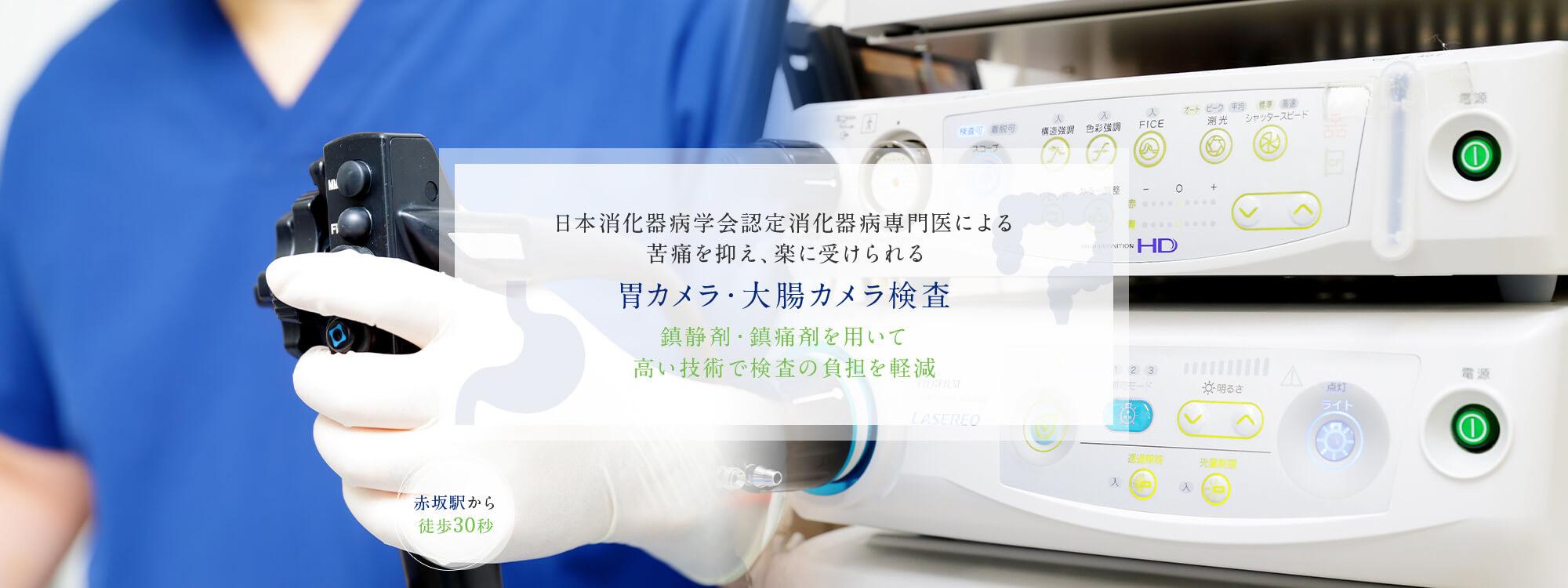 消化器病専門医による苦痛を抑え、楽に受けられる 胃カメラ・大腸カメラ検査
